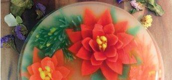 3D Christmas Wreath Jello Cake experimental Class