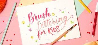 Workshop - Brush Lettering for kids - 2 sessions